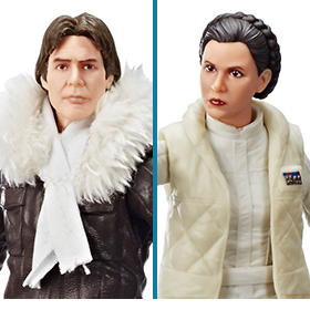 Star Wars: The Black Series Han Solo & Leia Organa (Empire Strikes Back) Exclusive Two-Pack