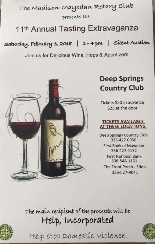 11th. Annual Tasting Extravaganza @ Deep Springs Country Club | Stoneville | North Carolina | United States