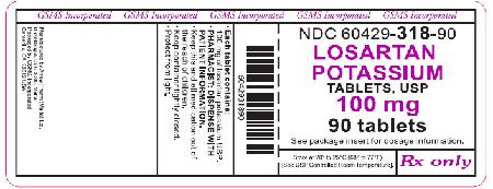 """""""Losartan potasio comprimidos, USP 100 mg, 90 comprimidos"""""""