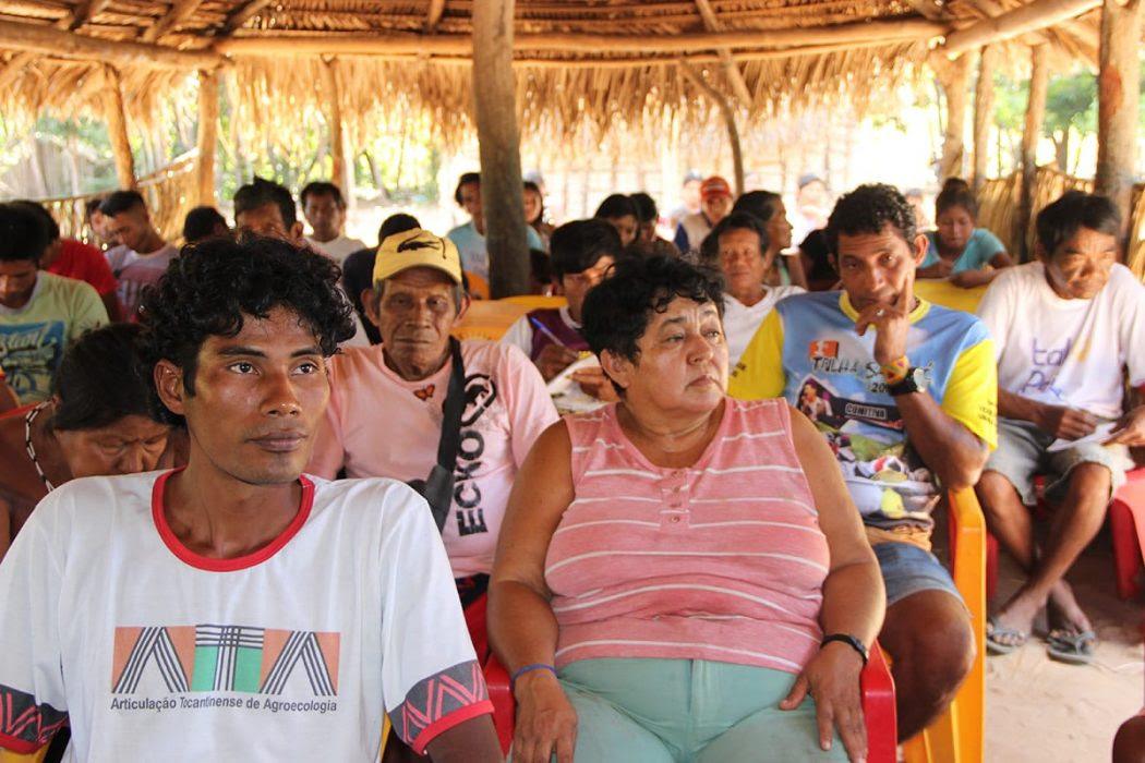 """Encontro com tema """"Nosso direito é originário: respeitem a Constituição Federal e nossos direitos e territórios"""" ocorreu na TI Apinajé. Foto: Laudovina Pereira/Cimi Goiás-Tocantins"""