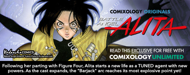"Battle Angel Alita Vol. 7 Following her parting with Figure Four, Alita starts a new life as a TUNED agent with new powers.  As the cast expands, the ""Barjack"" arc reaches its most explosive point yet!"
