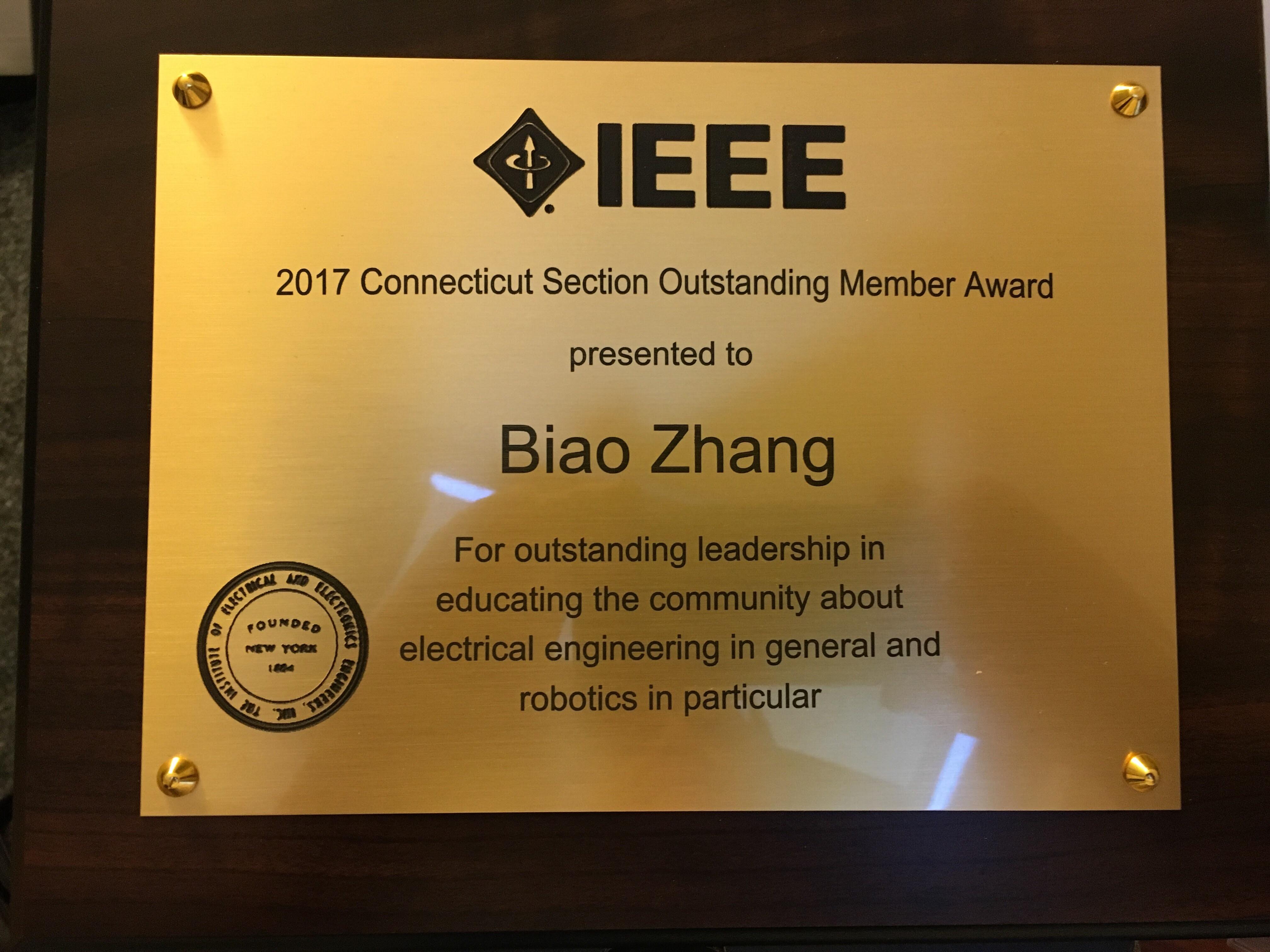 Biao's Award