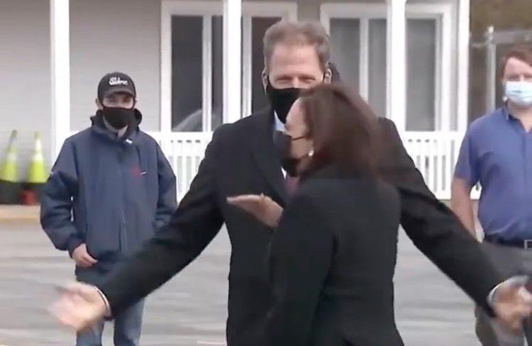 Kamala Harris walking