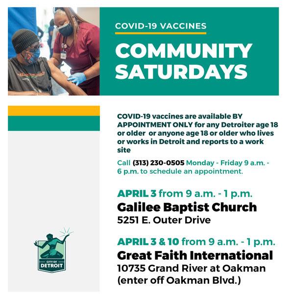 Community Saturdays 3.29.21