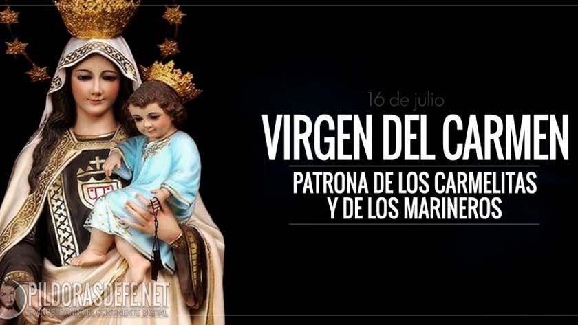 virgen del carmen nuestra senora del carmen del escapulario patrona de los carmelitas marineros