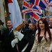 Leaders and supporters of the far-right group Britain First marched in central London last year.
