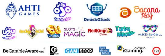 AHTI  PlayOJO   LuckyNiki   EUcasino    SlotsMagic    CasinoRedKings    DrueckGlueck