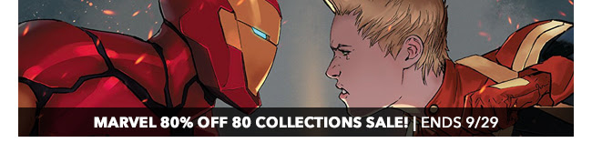 Marvel 80% off 80 Collections Sale | Ends 9/29