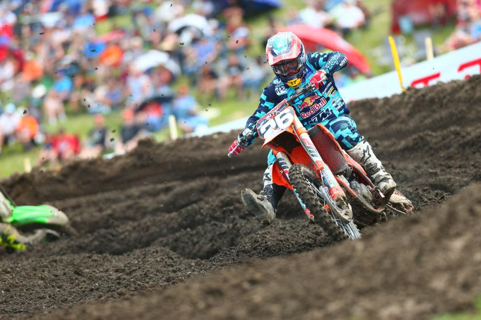 Alex Martin tied for the overall win, but had to settle for the runner-up spot.Photo: MX Sports Pro Racing / Jeff Kardas