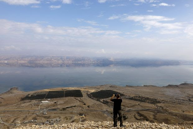 A view of the Dead Sea and Jordan from the West Bank.