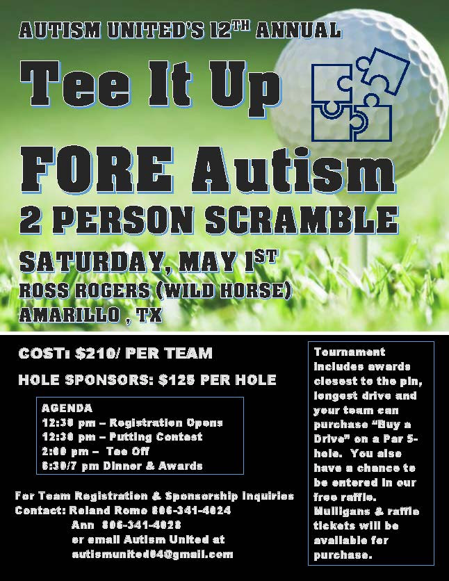 Tee It Up Fore Autism Autism United @ Ross Rogers