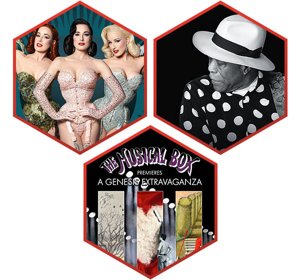 Book online - Dita Von Teese, La Nuit du Blues, The Musical Box