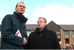 Brian Kavanagh (right) of Horse Racing Ireland with Minister Simon Coveney