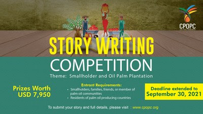 Council of Palm Oil Producing Countries (CPOPC) holds a story writing competition to engage communities and families living near or within the palm oil plantation in palm oil producing countries. For more info, please visit: https://www.cpopc.org/events/