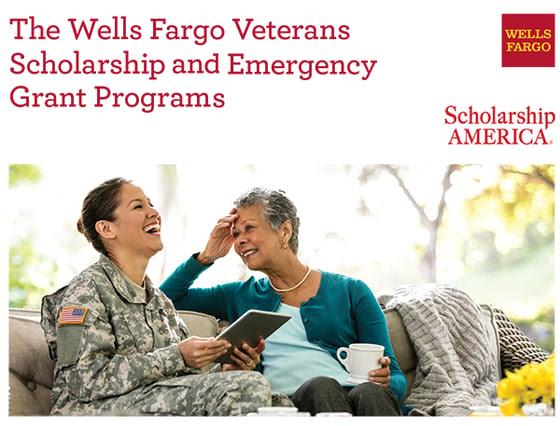 Wells Fargo Veterans Scholarship and Emergency Grant Programs