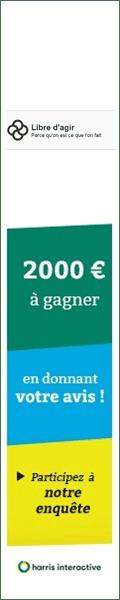 2000€ à gagner en donnant votre avis ! Participez à notre enquête