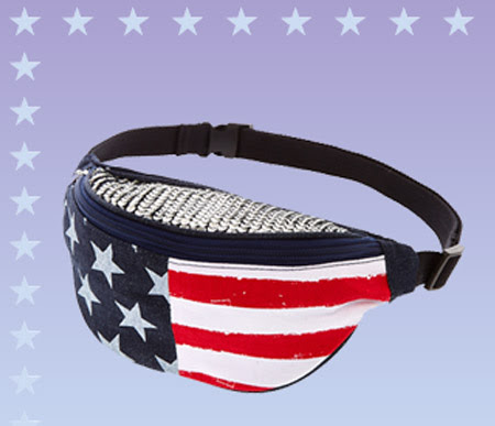 Denim Stars and Stripes Sequined Fanny Pack