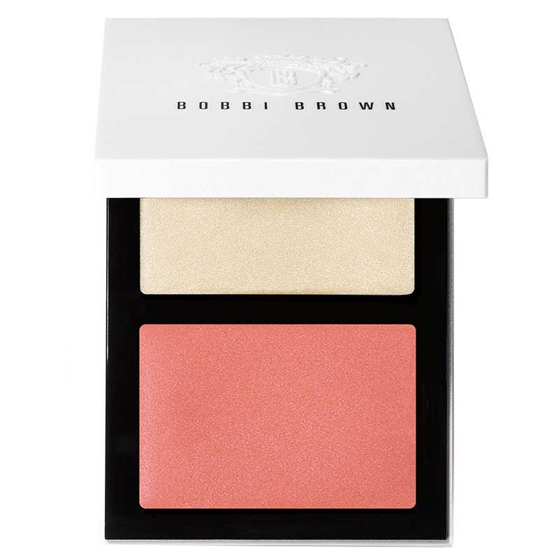 Bobbi Brown Cheek Glow Palette in Pearl Cream Glow & Pink Flush