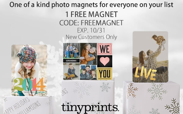Tiny Prints Free Magnet