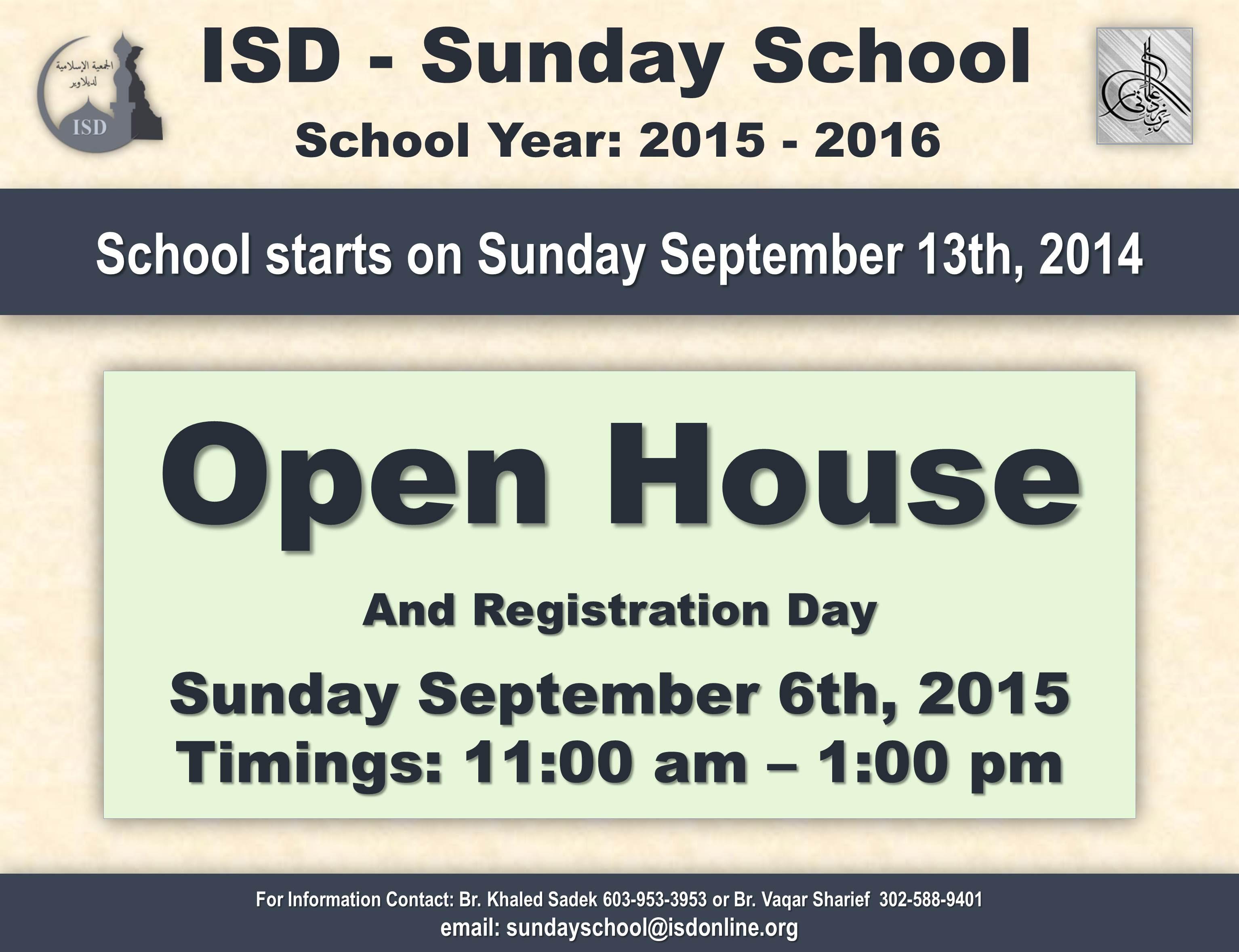 SundaySchoolOpenHouse2015