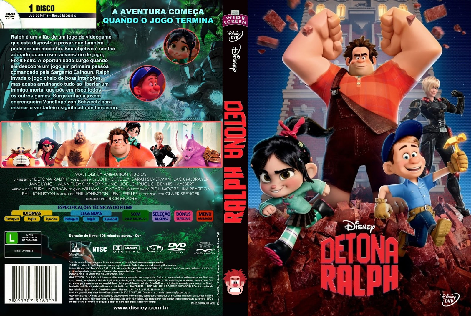 Detona Ralph Torrent – BluRay Rip 720p Dublado (2012)