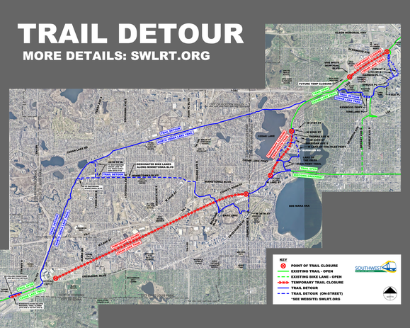 Cedar Lake and Kenilworth Trail Detours
