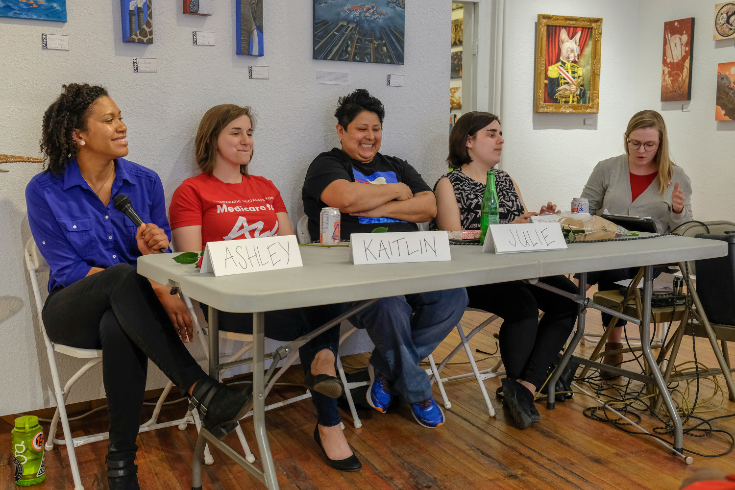 Women's Day Panel at Kanon Art Space. Photo by Justin Morgan.