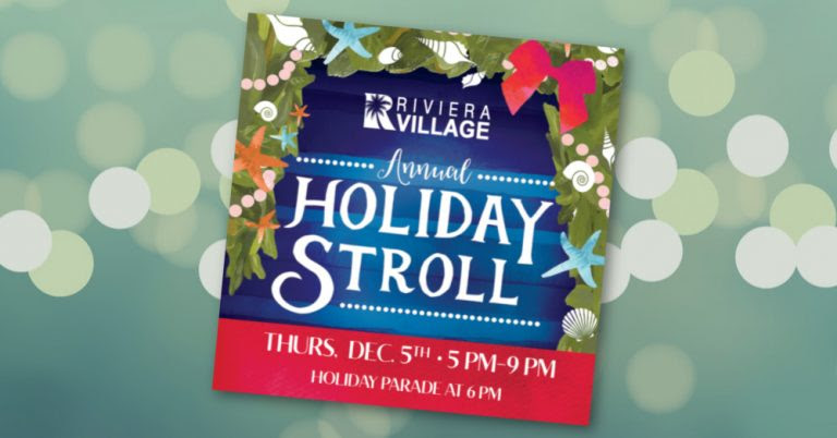 Riviera Village Holiday Stroll Flyer