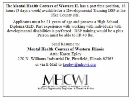 Mental Health Center opening July
