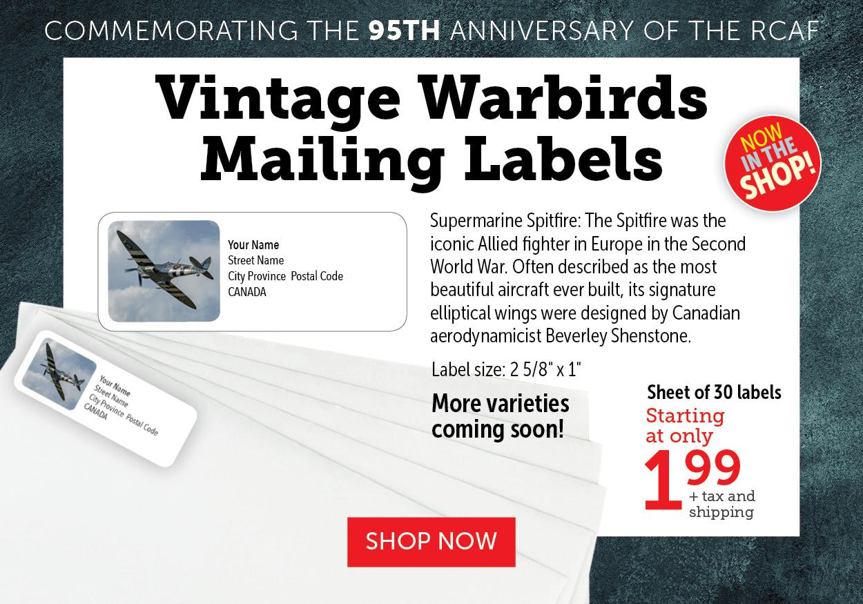 spitfire mailing label