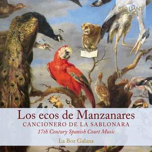 Los Ecos de Manzanares: Canzionero de la Sablonara, 17th Century Spain Product Image