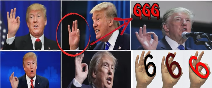 Trump's 666 Hand Sign Symbolism - Not 'White Power' Symbol