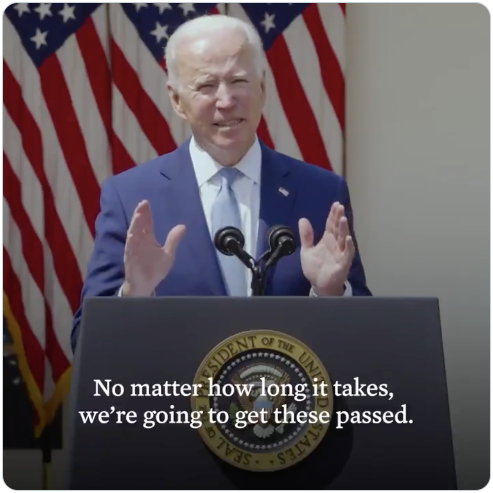 President Biden announcing new actions to curb the gun violence epidemic
