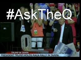 Q Anon: Trump Points to Q Cutout As Q Trolls MSM At Florida Rally (Video)