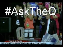 Q Anon: Trump Points to Q Cutout As Q Trolls MSM At Florida Rally (Video)