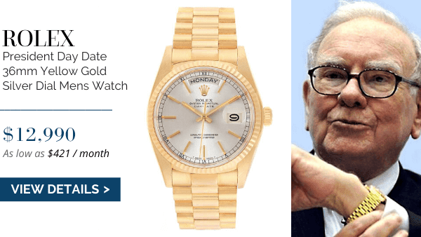 President Day-Date Yellow Gold Silver Dial