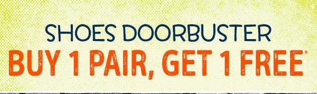 Shoes doorbuster | Buy 1 pair, get 1 free*