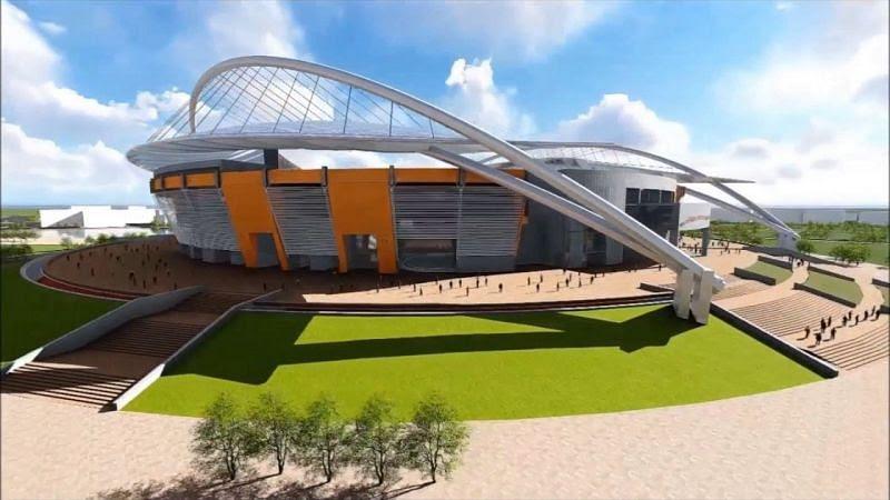 The architectural design of Purbachal Cricket Stadium of Bangladesh