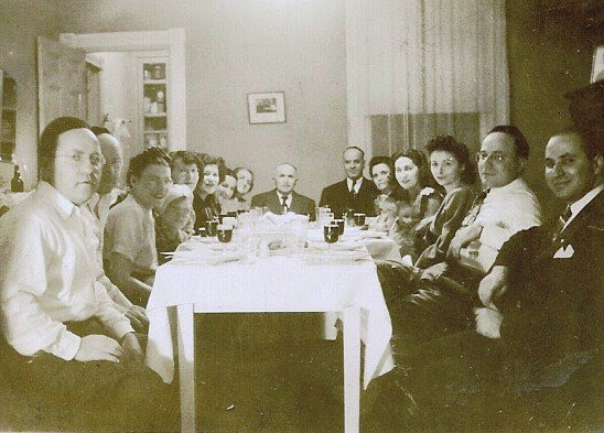 Passover 1946 - the Seder Table at the Elinoff home, with Joel's great-grandparents, grandparents, and extended family.