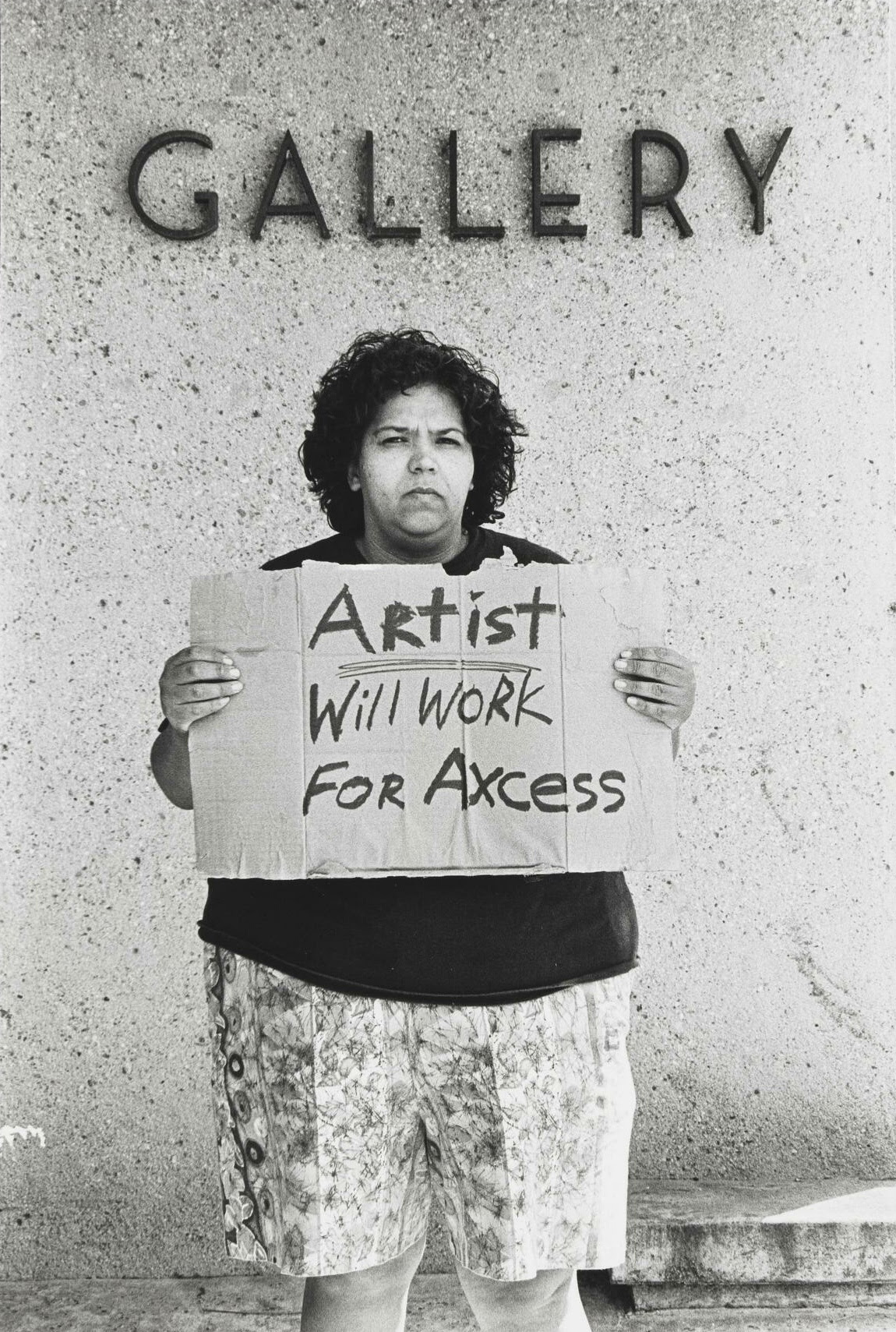 Laura Aguilar, Will Work For #4, 1993.