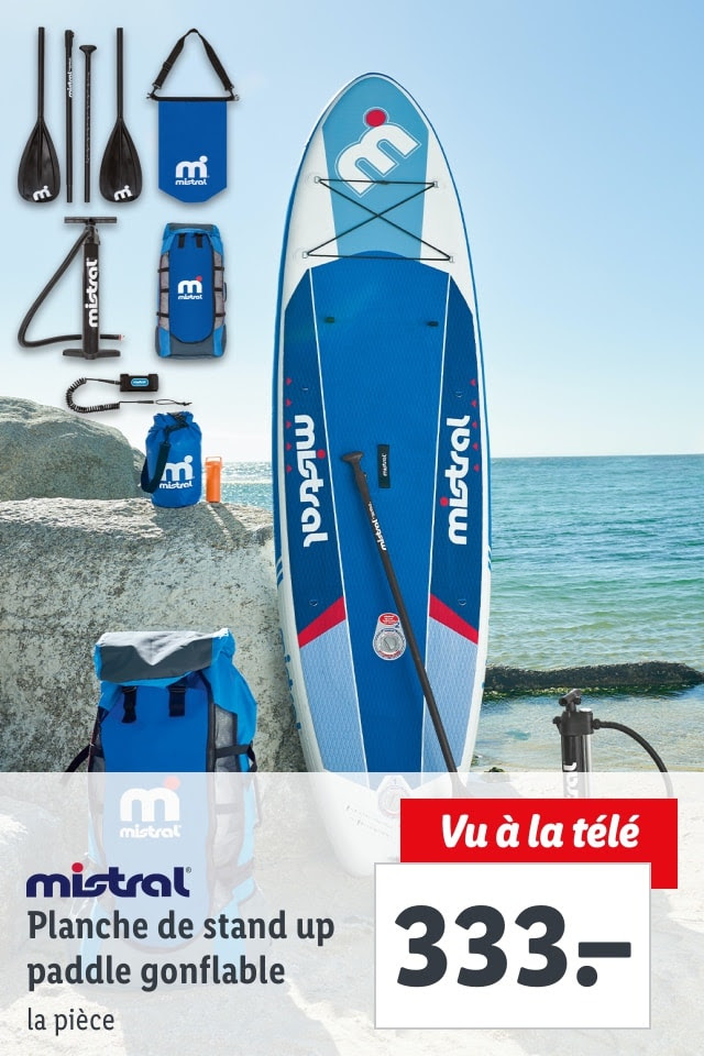 Dès 3.5. – Mistral Planche de stand up paddle gonflable: seulement CHF 333.00