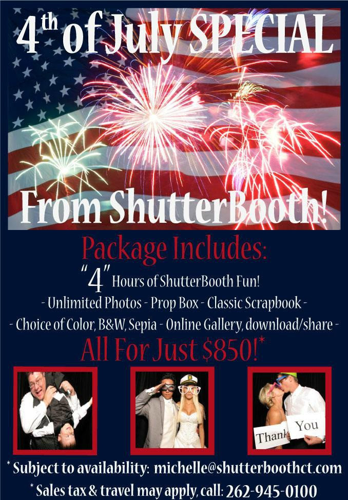 Fourth of July Sale! - ShutterBooth Photo Booth Rental Norwalk
