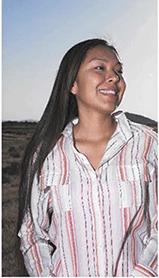 Alaskan woman smiling