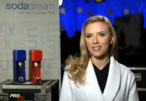 Actress Scarlett Johansson speaks for SodaStream