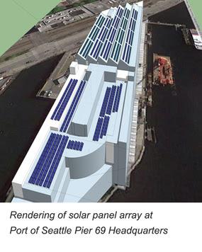Pier 69 solar panels