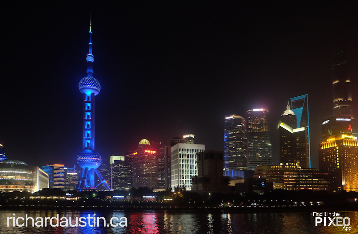 Shanghai City Skyline photo location from Richard Austin