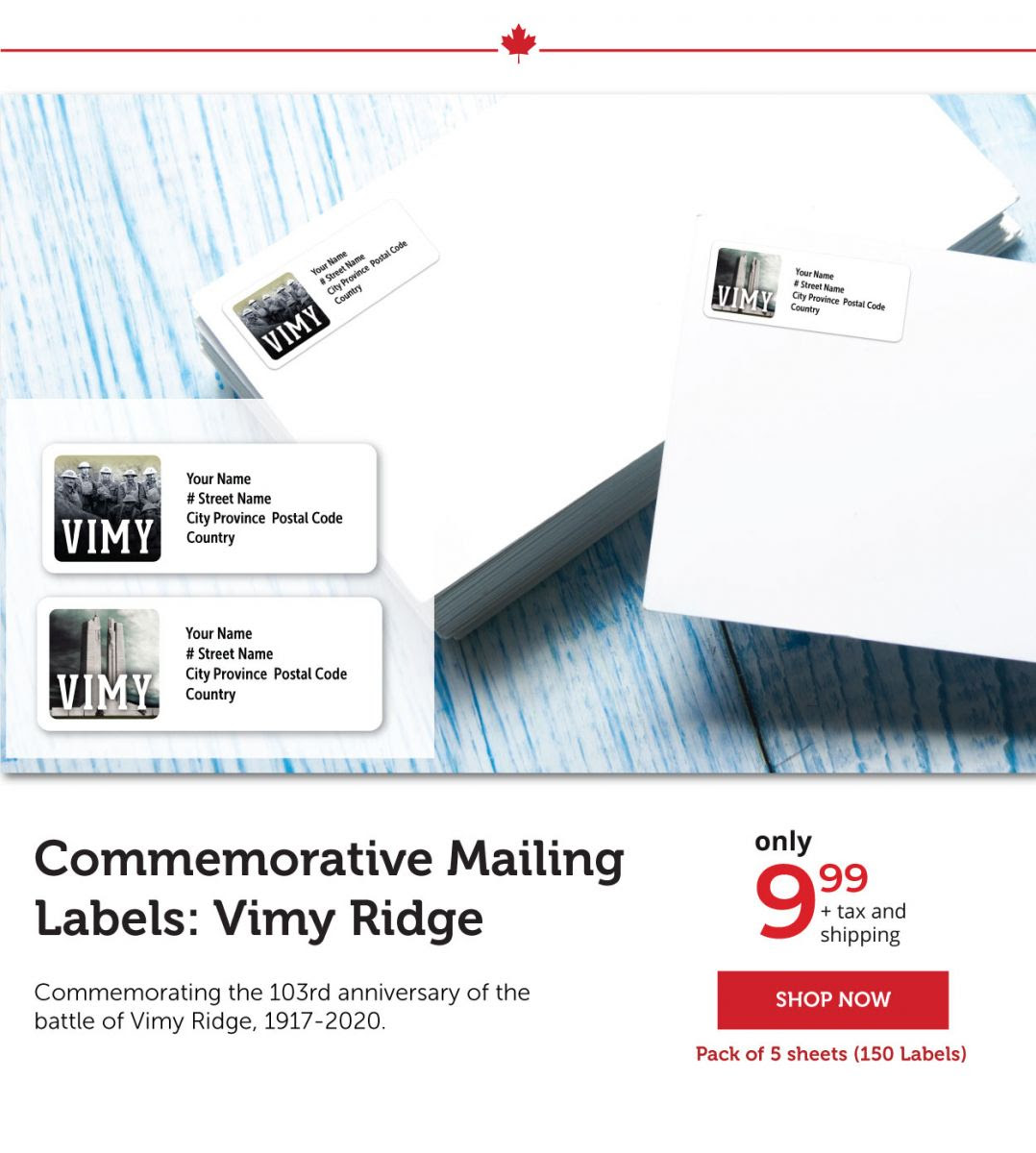 Commemorative Mailing Labels