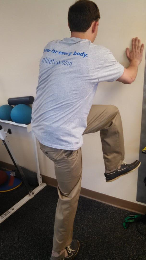 Left hip driver range of motion
