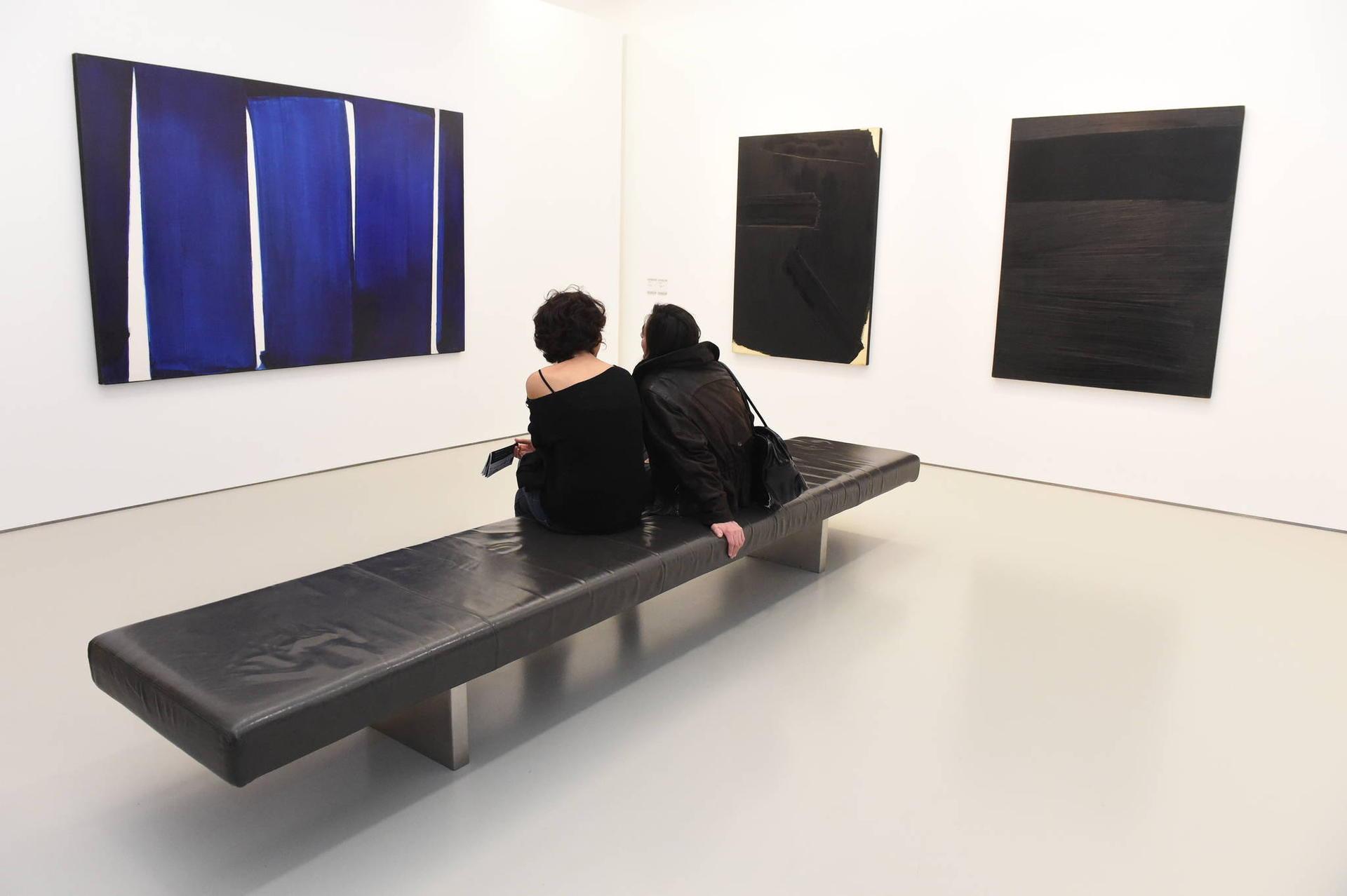 Photo de la salle Pierre Soulage au musée Fabre