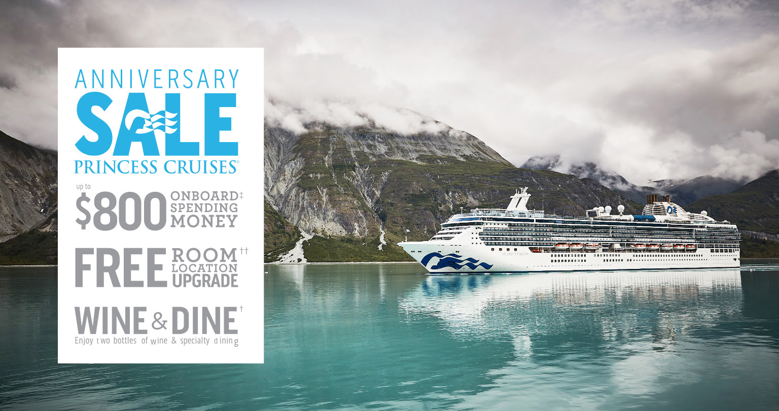 Click here to book Anniversay Sale - up to $800 onboard spending money, free room location upgrade and wine & dine